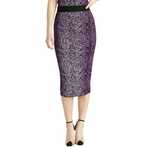 Rachel Roy Tia Animal Print Pull On Knit Skirt